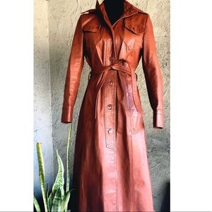 Vintage 70's Wilson's Leather Trench Coat Jacket